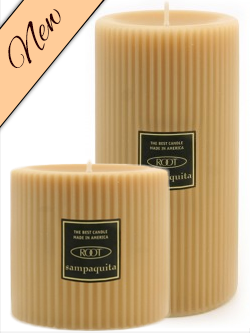 Tan Pillar Candle Image